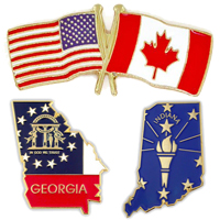 Custom Made Flag Pins