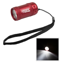 6 LED Laser Engraved Compact Aluminum Flashlight with Hand Strap