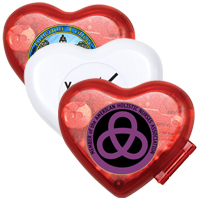 The Heart Step Counter Pedometer with Clock