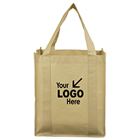 "14-1/2"" W x 13"" H - 80GSM Non-Woven Super Mega Grocery Shopping Tote Bag"