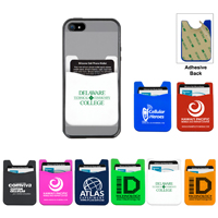 Silicone Cell Phone Wallet & Screen Cleaner Towelette