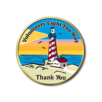 Volunteers Light The Way Lapel Pin