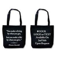 "Recyclable Eco Tote With Quote ""Make A Life"""