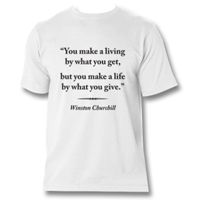 "Tshirt With Quote ""Make A Life"""