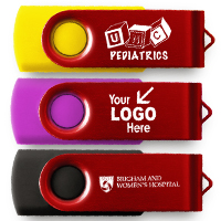 Red Flash Drive with Logo