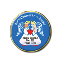 """Volunteers are Angels"" Lapel Pins"