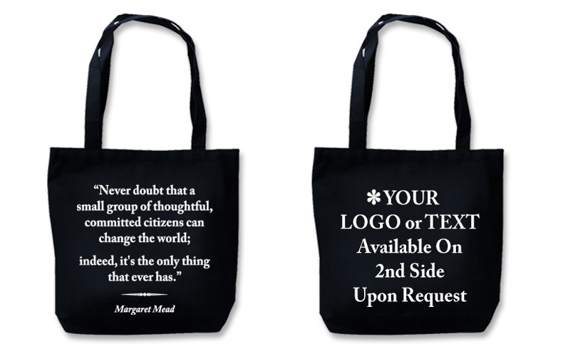 "Eco Friendly Tote With Quote""Change The World"""