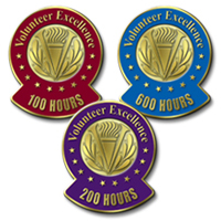 Milestone Pins (Hours) - Hours 50 Through 10,000 Hours