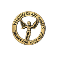 Volunteers are Angels Silver Pin Generic Pin