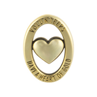 "Volunteer Lapel Pins ""Heart of Gold"""