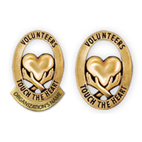 "Volunteer Lapel Pins ""Touch the Heart"""