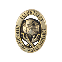 """Hold The World Together"" - Volunteer Lapel Pins"