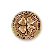 Four Leaf Clover Silver PinGeneric Pin