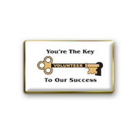 """Key to Our Success"" Volunteer Pin"