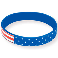 Patriotic Awareness Bracelet 100% Silicone