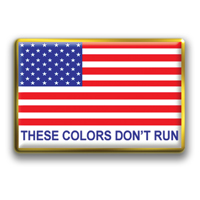"In Stock Rectangle American Flag / ""These Colors Don't Run"" theme"
