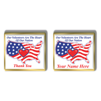 "In Stock Patriotic Volunteer Pin / ""Heart Of The Nation"""