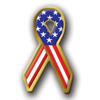 In Stock Patriotic Ribbon / Custom designed Unisex theme ribbon