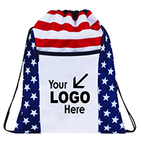 Patriotic Drawstring Backpack