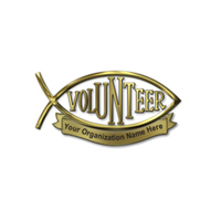 Christian Volunteer Pin Personalized
