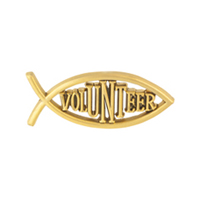 Christian Volunteer Pin Generic Gold Pin