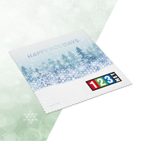 "Full-Color Ultra Opper Fiber Holiday Cloth (6"" x 6"")"