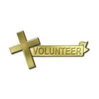 Gold Cross Pins w/ Volunteer Banner