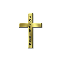 Gold Cross Christian Pin