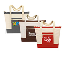 Canvas Convention Zippered Tote