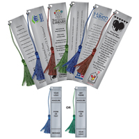 Customized Bookmark with Poem and Logo