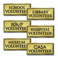 Designated Volunteers - 6 Generic OR Personalizated Designations