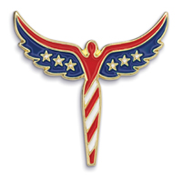 Angel Flag Pin - Die Struck Patriotic Lapel Pins