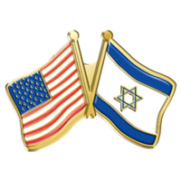 In Stock American/Israeli Flag Combination