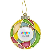 Stained Glass Bulb Ornament