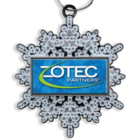 Die Cast Holiday Ornament - Glitter Snowflake