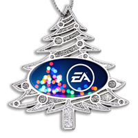 Die Cast Glitter Christmas Tree Ornament