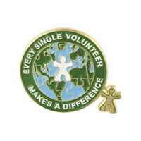 """Every Single Volunteer Makes a Difference"" Lapel Pin"