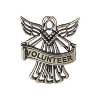 Volunteer Angel - Antique Gold Pin Authentic Design