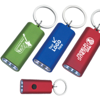 Rectangular Aluminum LED Light With Key Ring