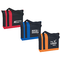Stylish, Contemporary Totes w/ Bright Color Tri-Band Design