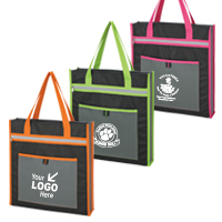 "Stylish, ""Snazzy Tote"" w/ Bright Color Contrasts"