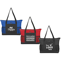 Deluxe Meeting Tote - Zipper Closure on Top w/ Large Front Pocket and 2 Side pockets (Pen not included)