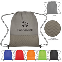 Non-Woven Wave Design Drawstring Bag
