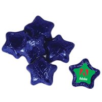 Individually Wrapped Chocolate Stars