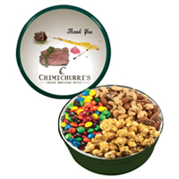 The Royal Tin - M&M's, Mixed Nuts, Caramel Popcorn