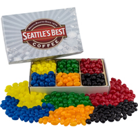 Rectangle Custom Candy Box with Corporate Color Jelly Beans