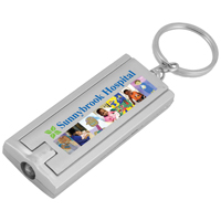 PhotoImage ® Full Color Imprint Slim Keyholder Keylight with Bright White LED Light