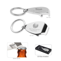 Elite Laser Engraved Metal Bottle Opener Keyholder