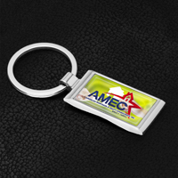 Economy Metal Keyholder with PhotoImage ® Full Color Domed Imprint*