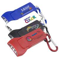 'Beamer' 4 LED Keyholder Keylite with Carabiner Clip (Photoimage 4 Color)